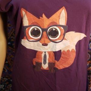 American Apparel Tops - American Apparel smart fox cap sleeve tee large